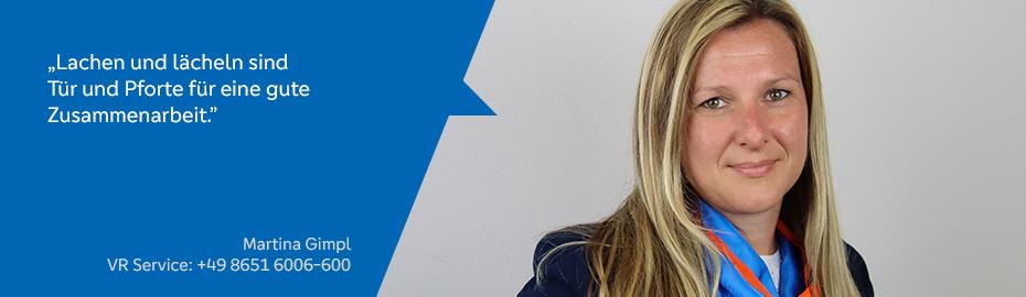 Martina Gimpl – Mitarbeiterin im VR Service