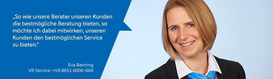 Eva Benning – Mitarbeiterin im VR Service