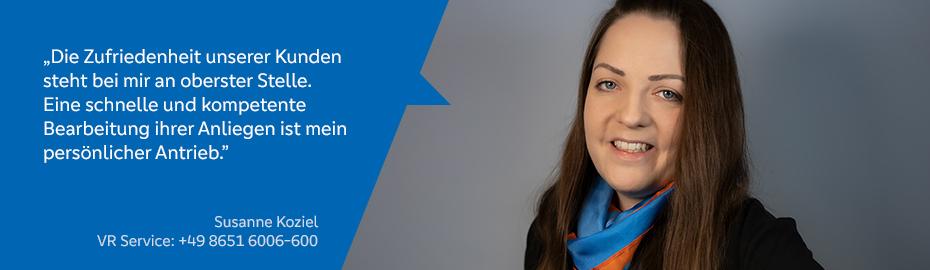 Susanne Koziel – Mitarbeiterin im VR Service